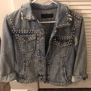 Blank NYC embellished denim jacket